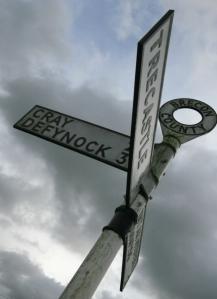 Upper Usk Valley Signpost