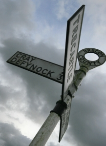Upper Usk Valley Signpost